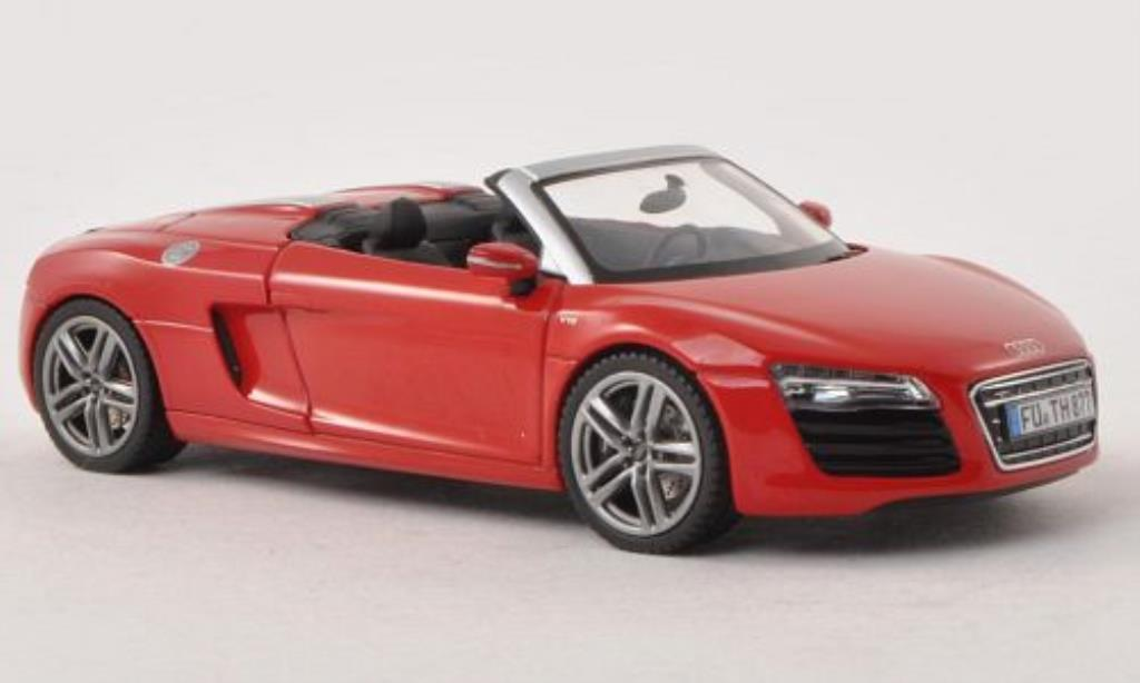 Audi R8 Spyder 1/43 Schuco Facelift red diecast model cars