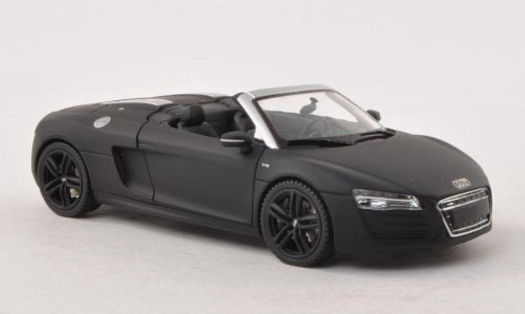 Audi R8 Spyder 1/43 Schuco matt-black diecast model cars