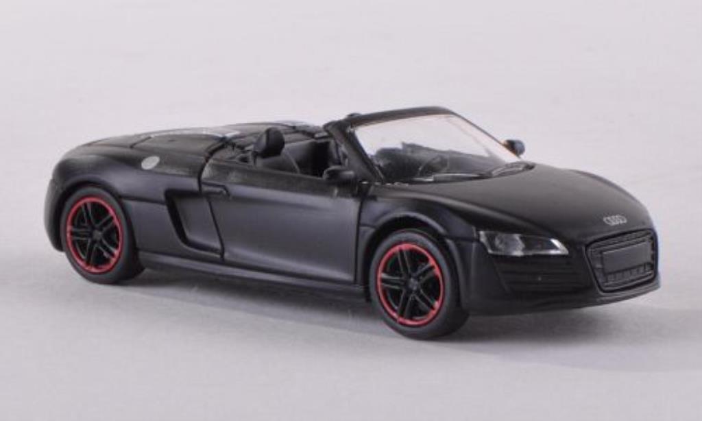 Audi R8 Spyder 1/87 Schuco matt-noire miniature