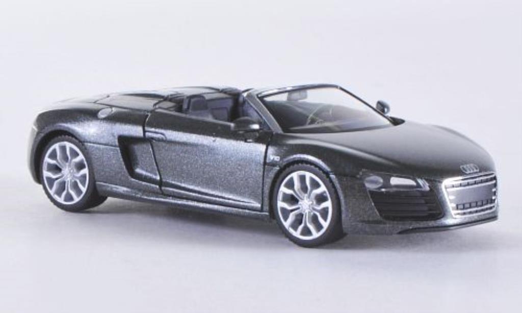 Audi R8 Spyder 1/87 Herpa grise 2012 miniature