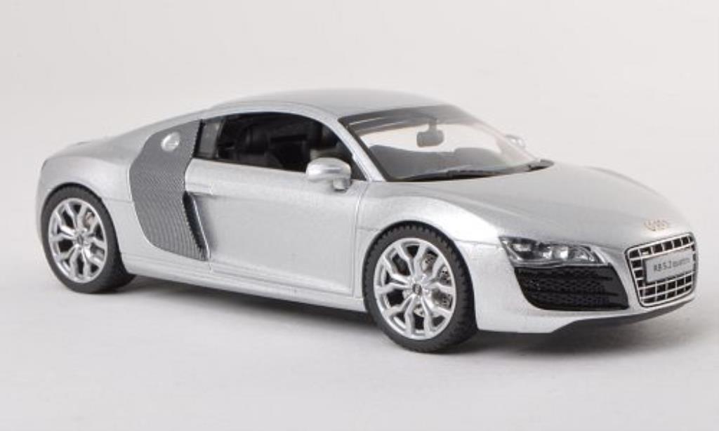 Audi R8 1/43 Schuco V10 5.2 Quattro grigio/carbon modellino in miniatura