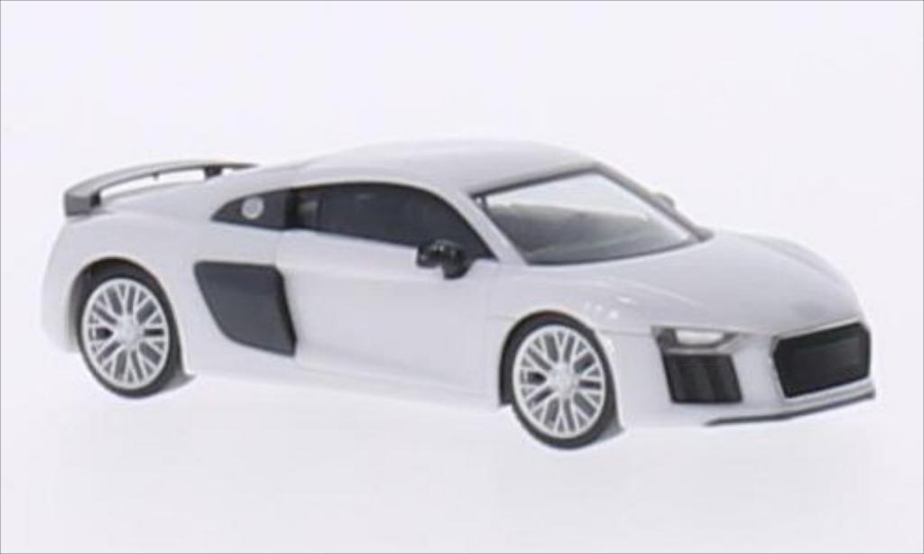 Audi R8 1/87 Herpa V10 Plus bianco/carbon modellino in miniatura