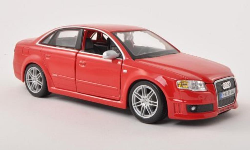 Audi RS4 1/24 Burago (B7) rouge miniature