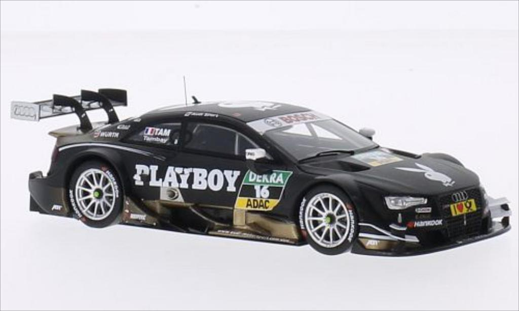 Audi RS5 DTM 1/43 Spark No.16 Audi Sport Team Abt Playboy 2014 miniature