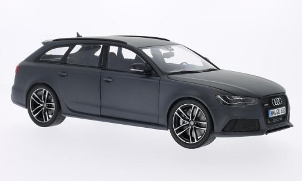 Audi RS6 1/18 Minichamps Avant matt-grise miniature