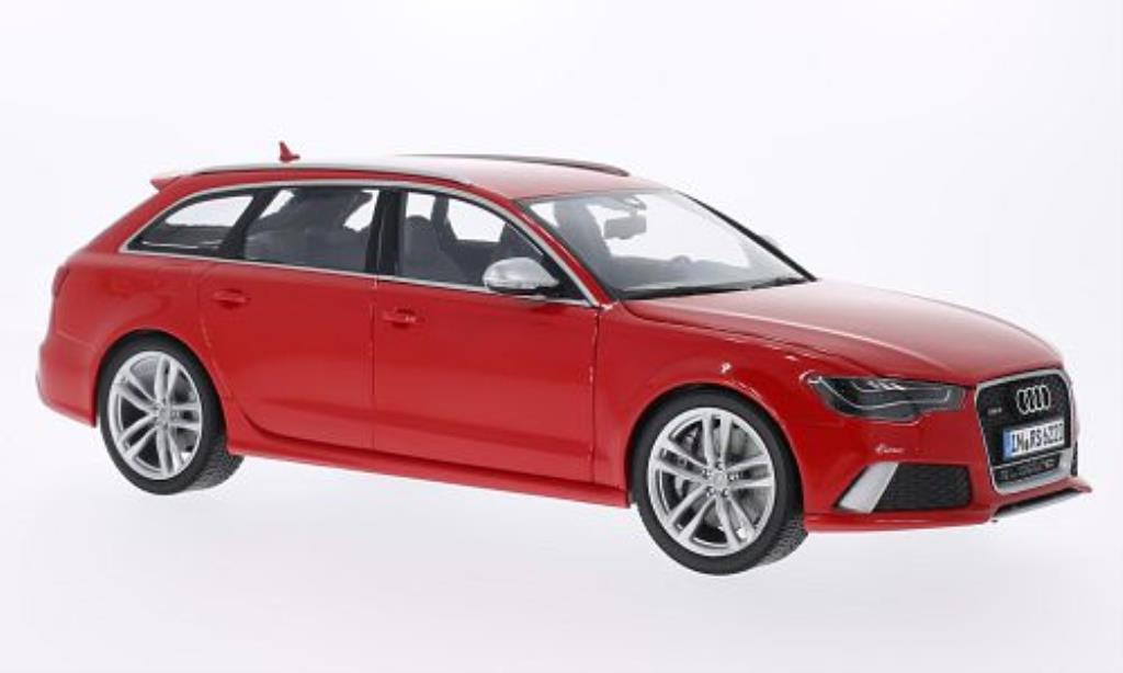 Audi RS6 1/18 Minichamps Avant rouge miniature