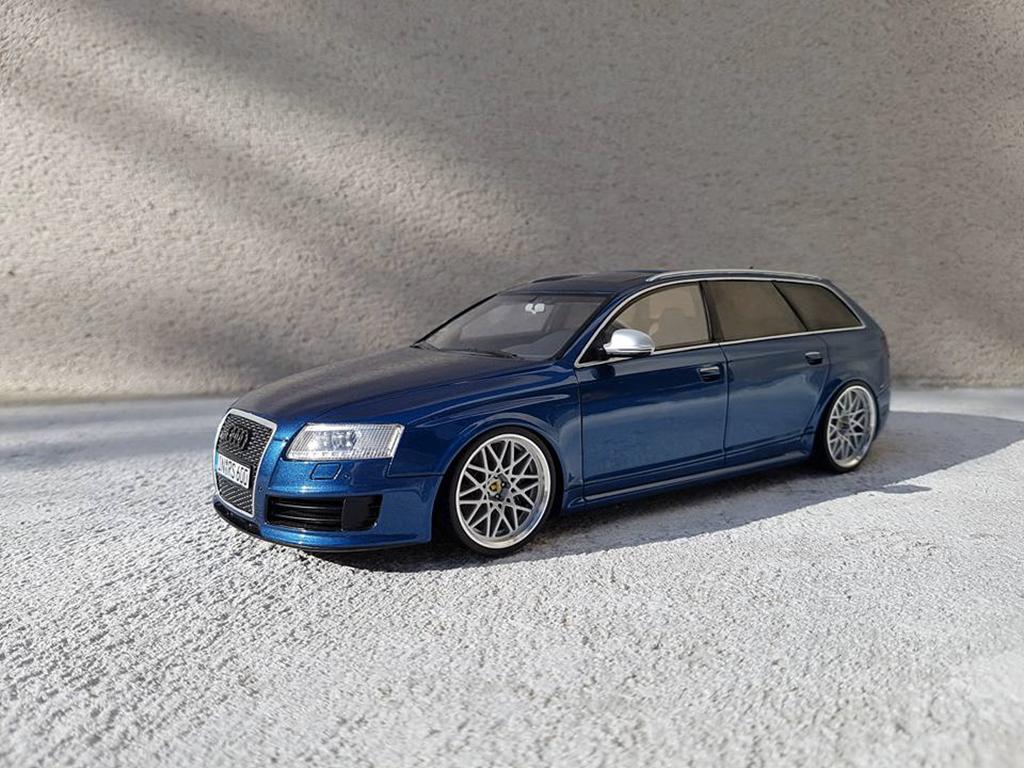 Audi RS6 1/18 Ottomobile C6 Avant V10 TFSI bleu miniature
