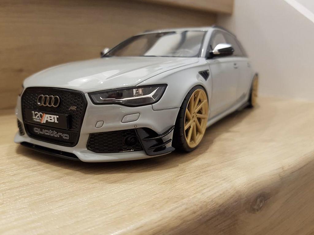 Audi RS6 1/18 GT Spirit R ABT C6 Avant V10 TFSI gris diecast model cars