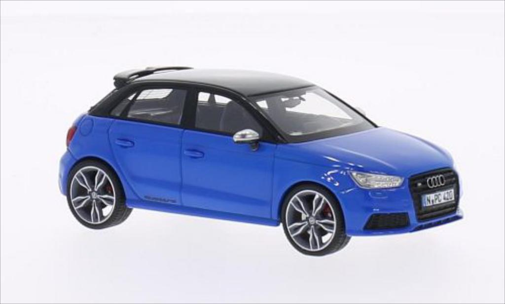 Audi S1 1/43 Neo Sportback bleu/nero 2014 miniatura