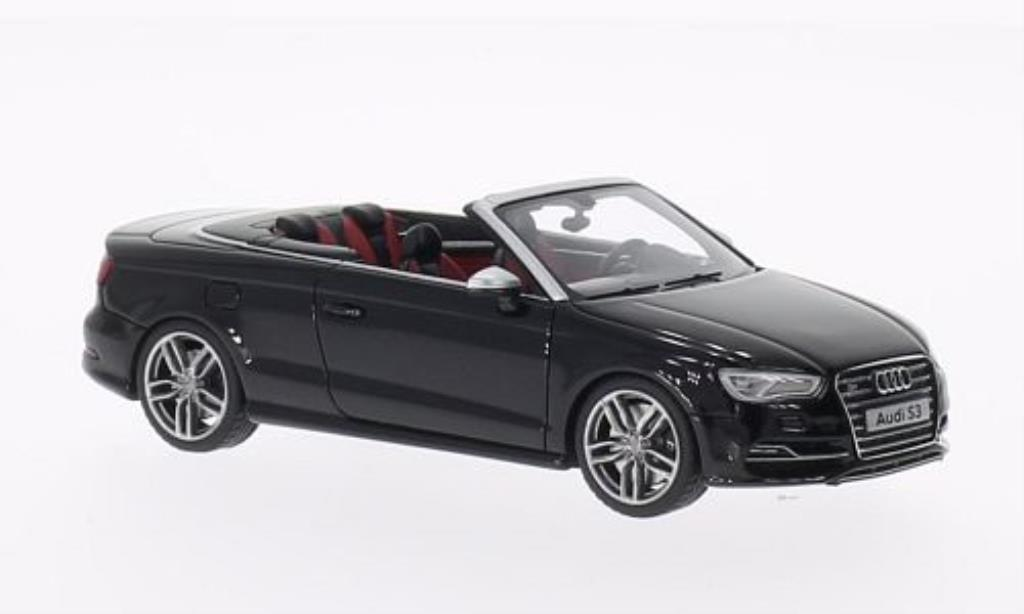 Audi S3 1/43 Minichamps Cabriolet black 2013 diecast model cars