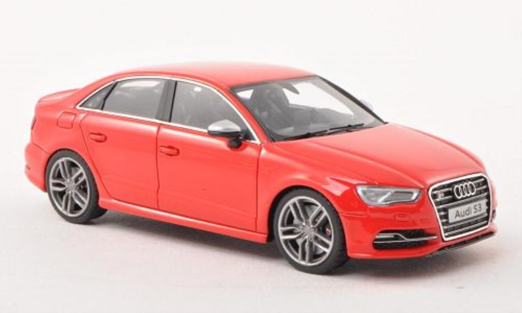 Audi S3 1/43 Minichamps Limousine red 2013 diecast model cars