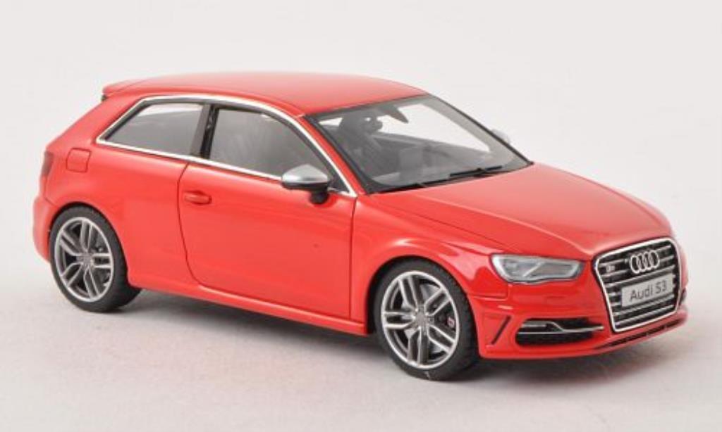 Audi S3 1/43 Minichamps red 2013 diecast model cars
