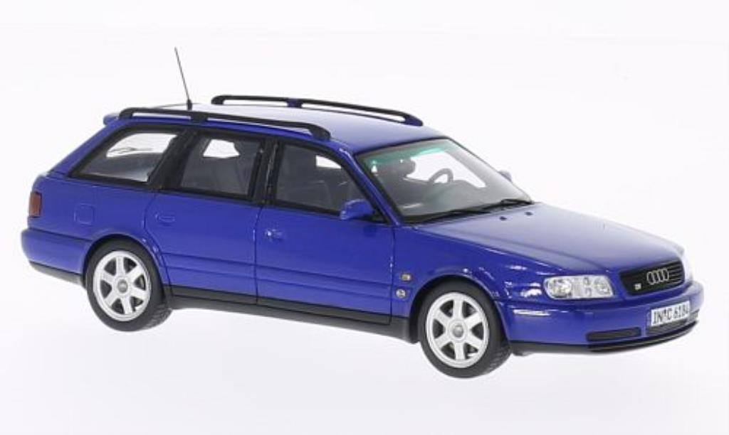 Audi S6 1/43 Spark plus Avant bleu miniature