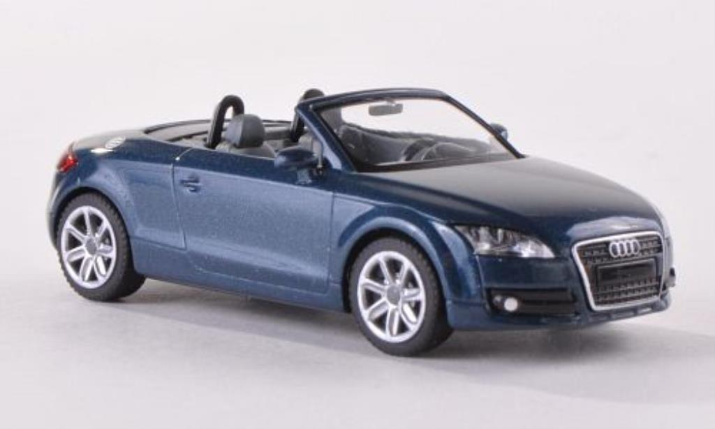 Audi TT Roadster 1/87 Wiking Roadster (8J) bleu 2007 diecast model cars