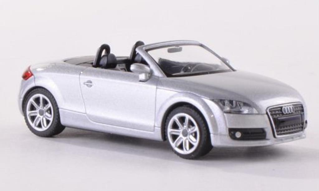Audi TT Roadster 1/87 Wiking Roadster (8J) grey 2007 diecast model cars