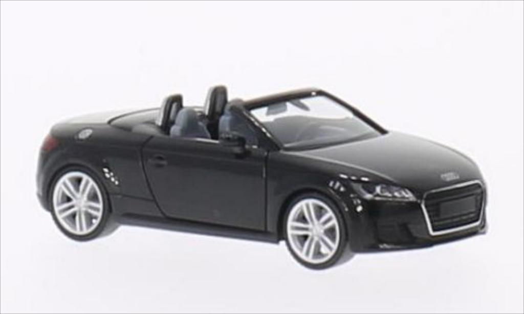 Audi TT Roadster 1/87 Herpa Roadster black 2014 diecast model cars