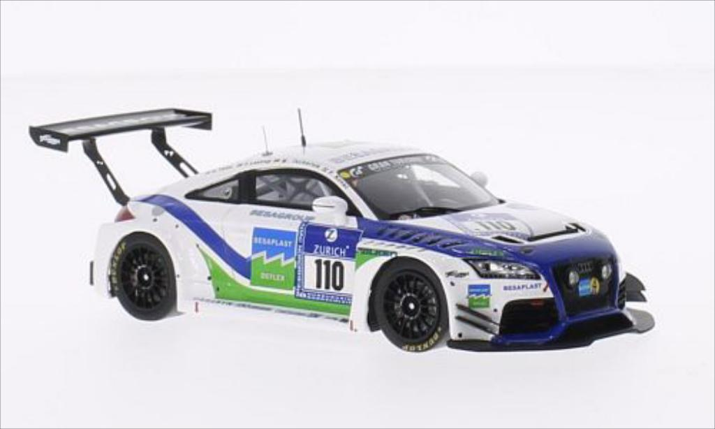 Audi TT RS 1/43 Spark No.110 Besaplast Racing Team 24h Nurburgring 2014 /K.Thiim miniature