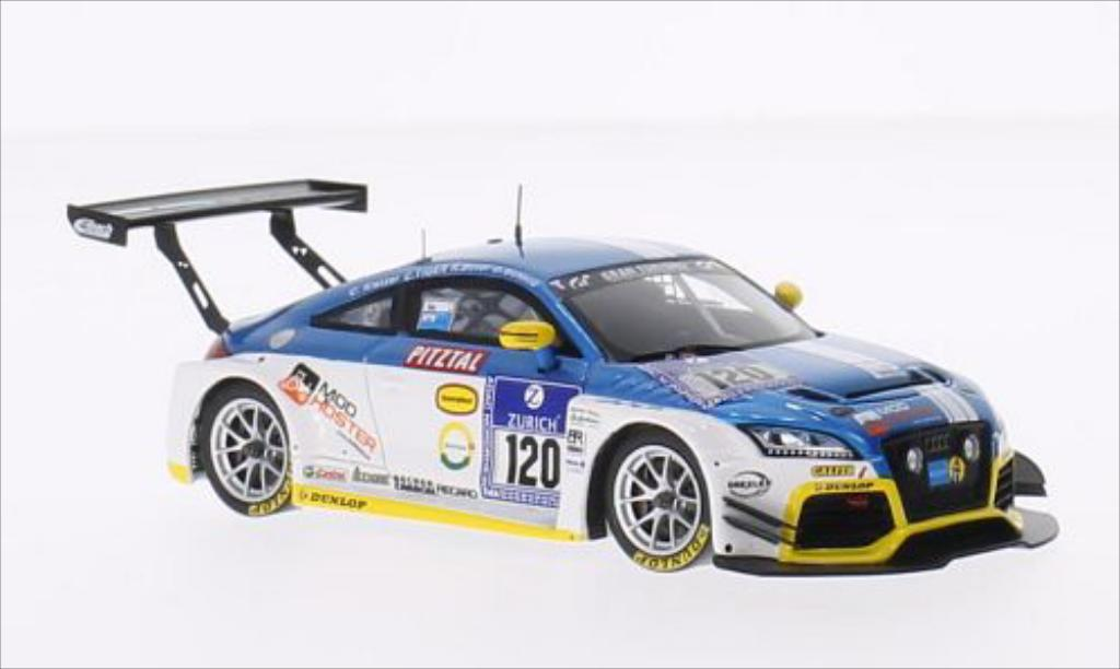 Audi TT RS 1/43 Spark No.120 LMS Engineering 24h Nurburgring 2014 /Tiger miniature