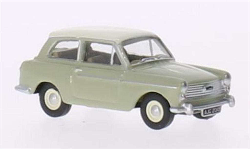 Austin A40 1/76 Oxford MKII verte/blanche RHD miniature