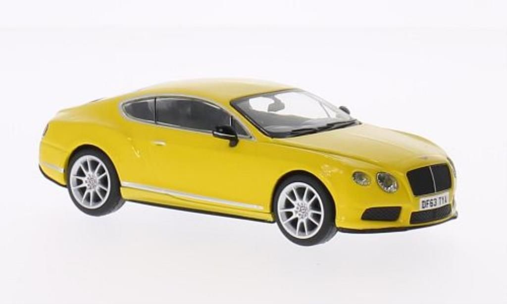 Bentley Continental GT 1/43 Corgi V8 S yellow RHD diecast model cars
