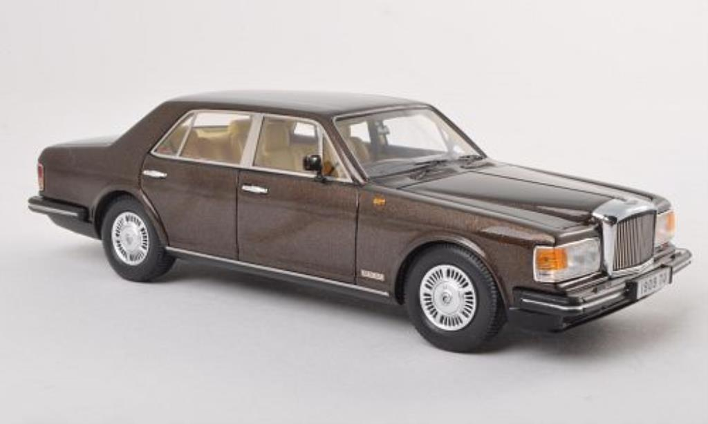 Bentley Mulsanne 1/43 Neo marrone RHD 1980 miniatura