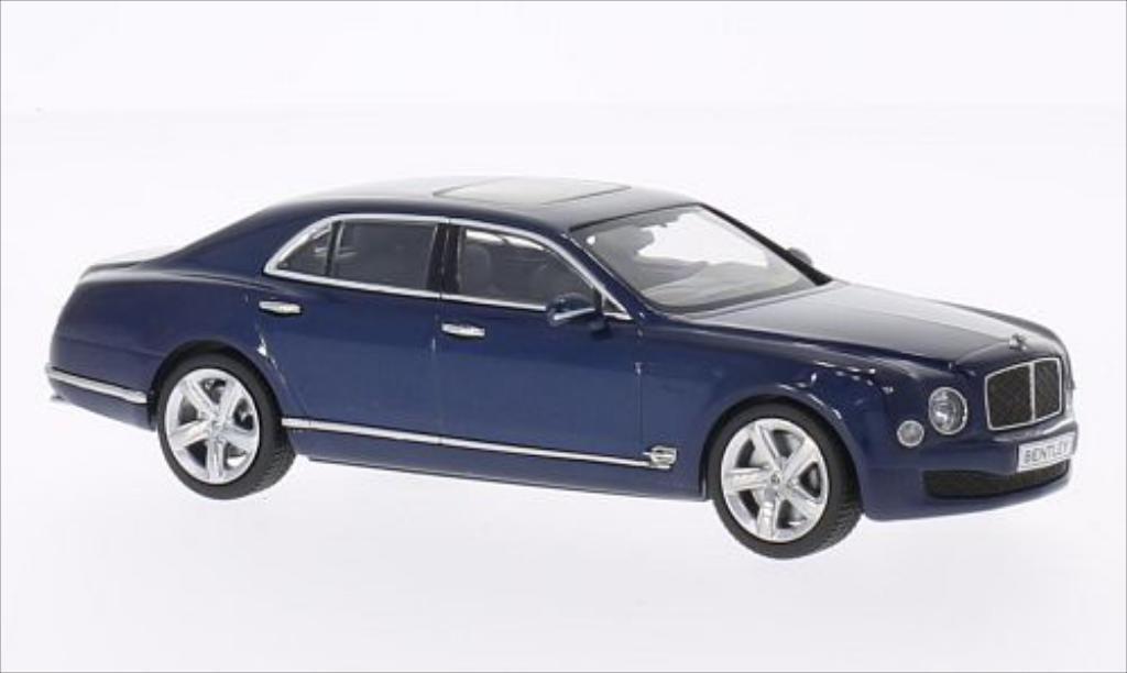 Bentley Mulsanne 1/43 Kyosho Speed metallise bleu modellino in miniatura