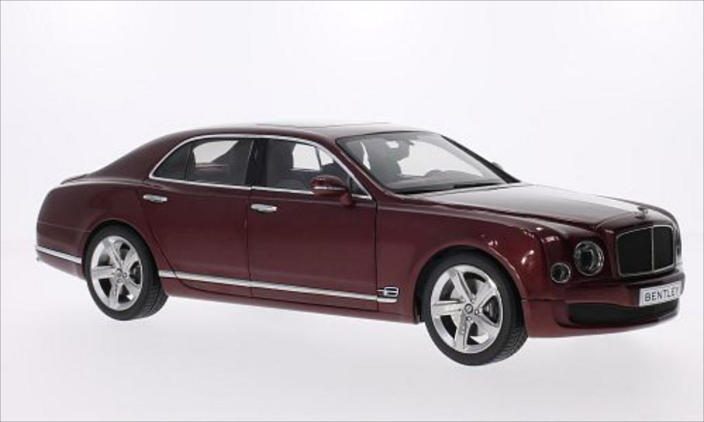 Bentley Mulsanne 1/18 Kyosho Speed metallic-rosso 2014 miniatura