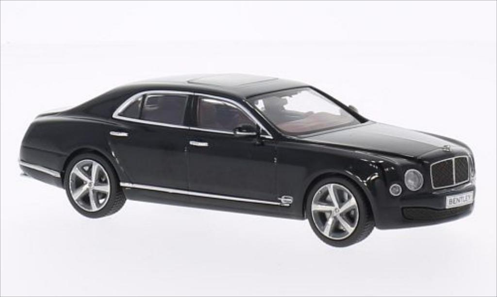 Bentley Mulsanne 1/43 Kyosho Speed metallic-nero miniatura