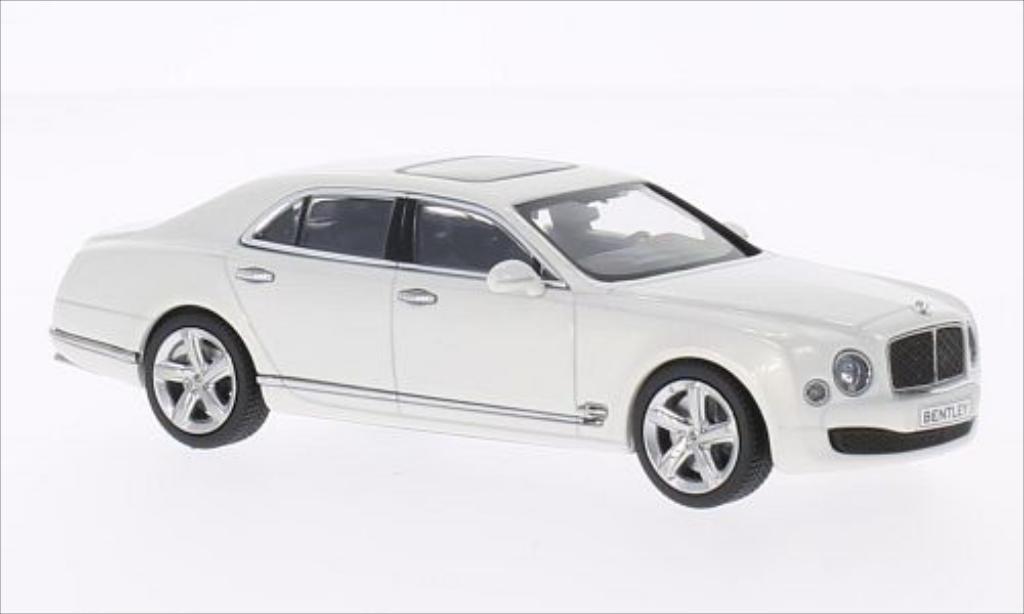 Bentley Mulsanne 1/43 Kyosho Speed metallise bianco modellino in miniatura