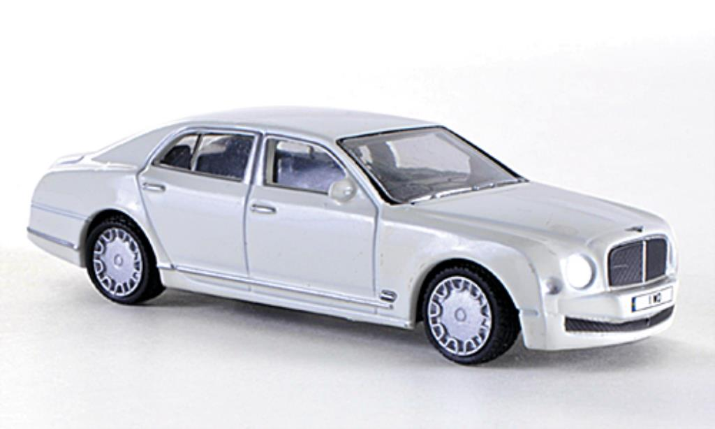 Bentley Mulsanne 1/76 Oxford bianca RHD miniatura