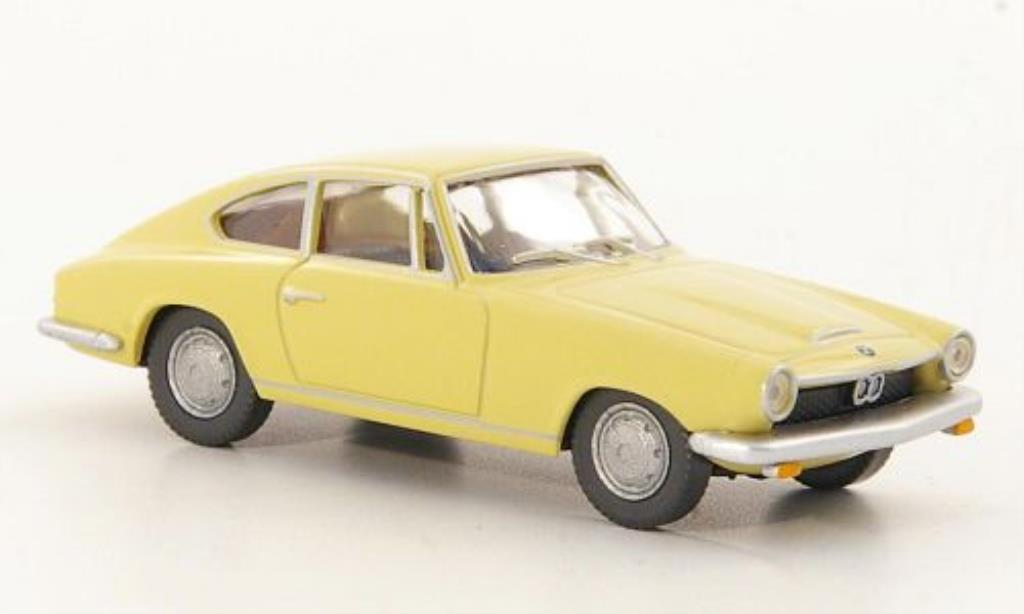 Bmw 1600 GT 1/87 Wiking Coupe beige diecast model cars