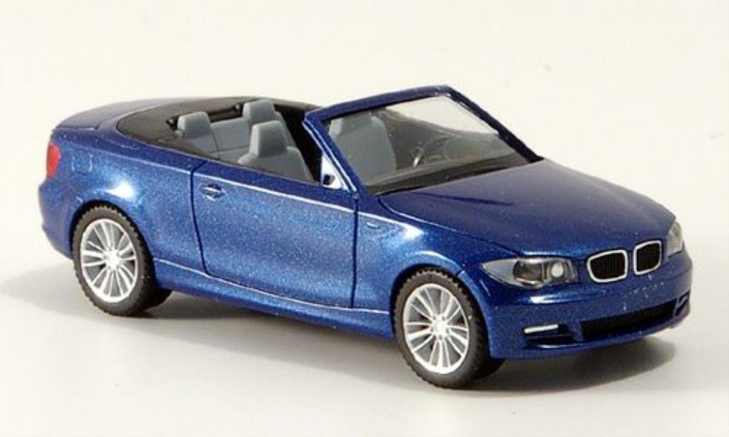 Bmw 135 E88 1/87 Herpa Cabrio bleu