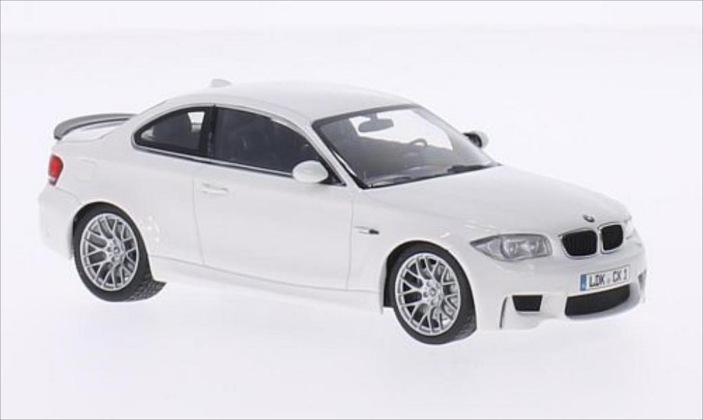 Bmw 1M 1/43 Minichamps M Coupe (E82) white 2011 diecast model cars