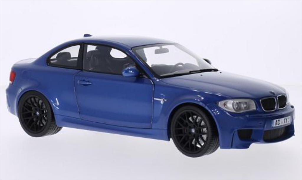 Bmw 1M 1/18 Minichamps Coupe metallic-bleu 2011 E82 miniature