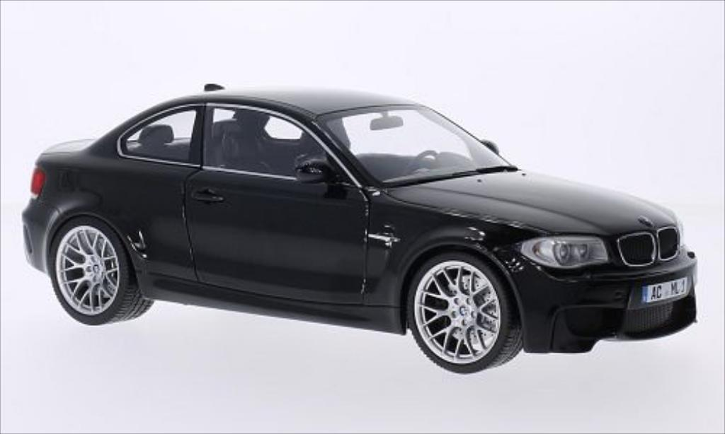 Bmw 1M 1/18 Minichamps Coupe metallise black 2011 E82 diecast model cars