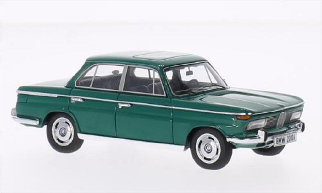 Bmw 2000 A 1/43 Minichamps grun 1962 diecast model cars