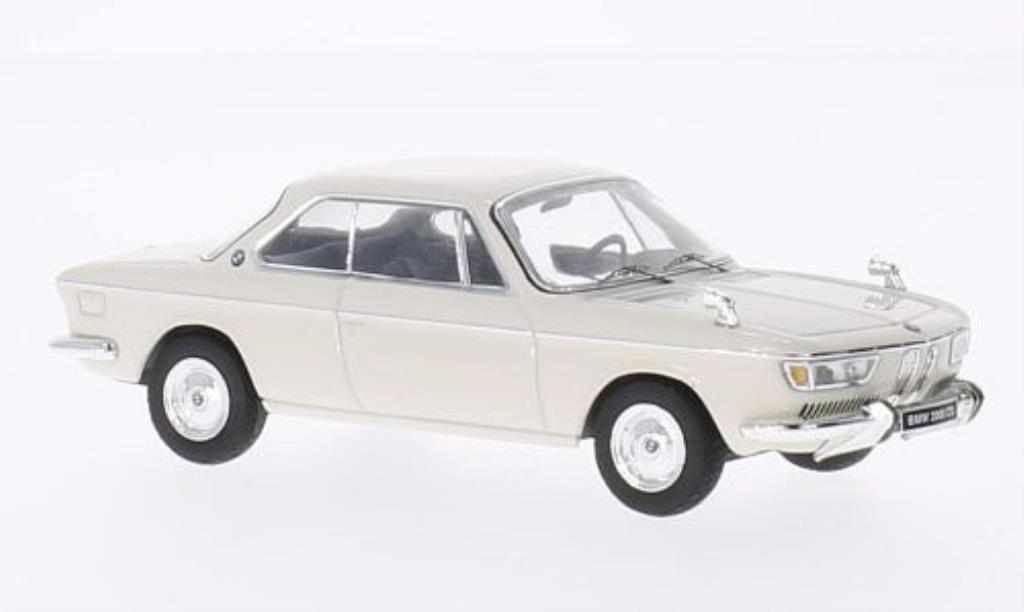 Bmw 2000 CS 1/43 IXO white 1970 diecast model cars