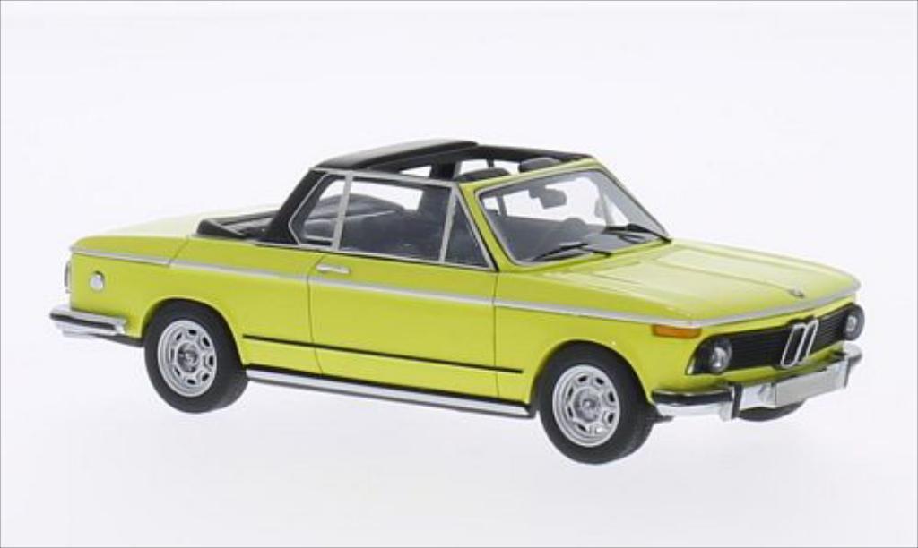 Bmw 2002 1/43 Neo (E10) Baur Cabriolet jaune miniature