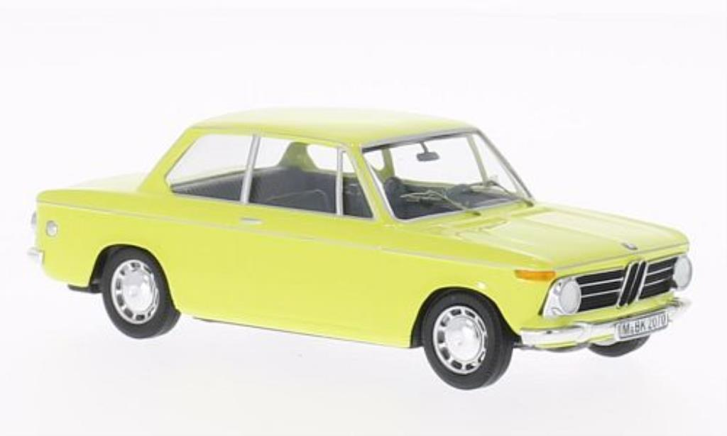 Bmw 2002 1/43 WhiteBox jaune limitierte Auflage 500 Stuck miniature