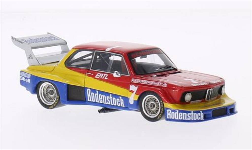 Bmw 2002 Turbo 1/43 Spark Gr.5 No.7 BMW Schnitzer Rodenstock DRM Zolder 1977 miniature
