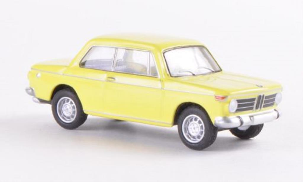 Bmw 2002 1/87 Bub Limousine jaune miniature