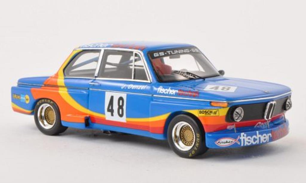 Bmw 2002 Tii 1/43 Spark No.48 Fischer Technik DRM Norisring 1976 miniature
