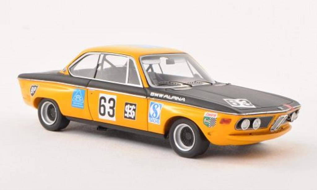 Bmw 2800 E9 1/43 Spark CS No.63 BMW Alpina 300km Nurburgring 1970 miniature