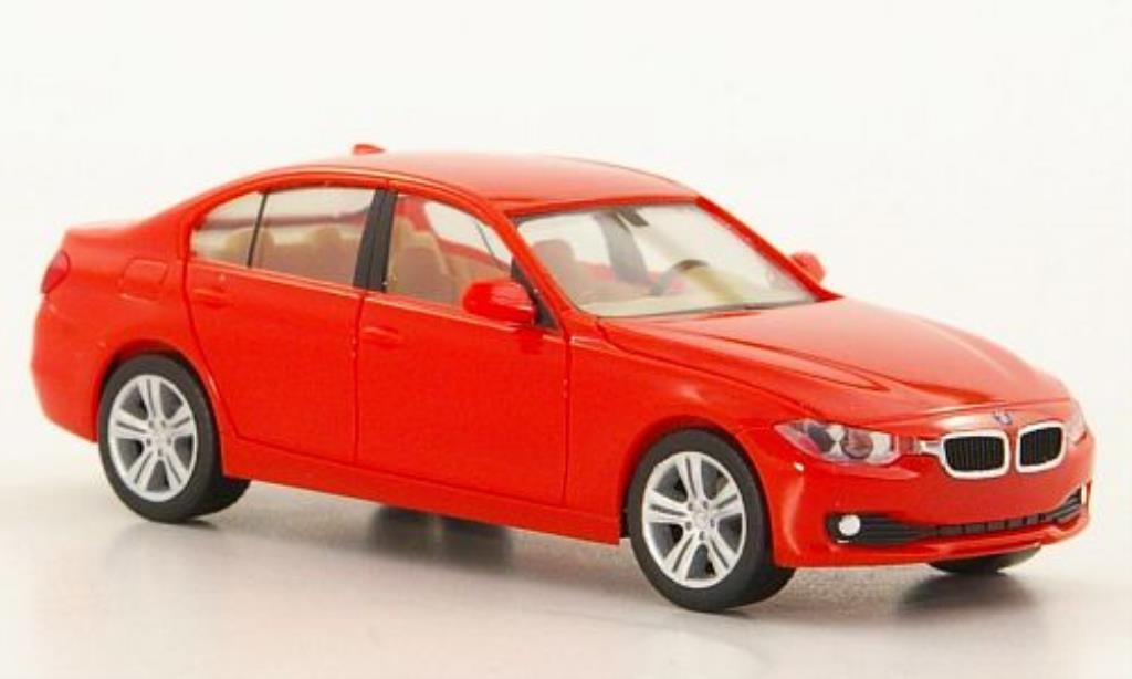 Bmw 335 F30 1/87 Herpa Limousine rouge miniature