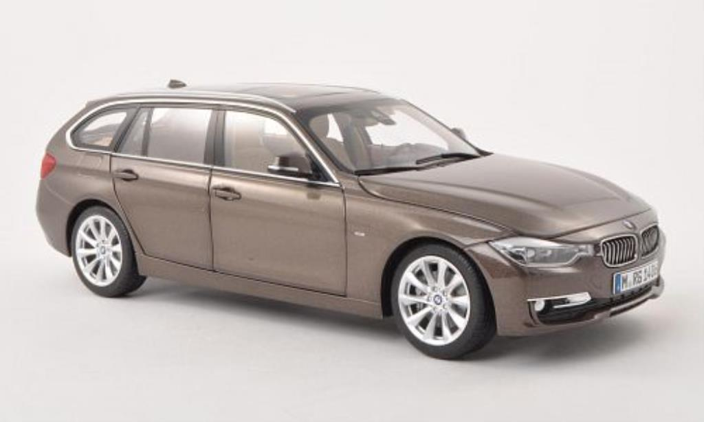 Bmw 335 F31 1/18 Paragon Touring marrone 2012 modellino in miniatura