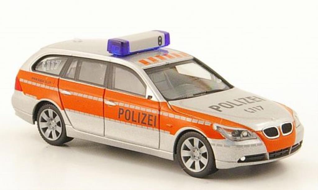 Bmw 520 E61 1/87 Herpa d Touring Polizei Schweiz diecast