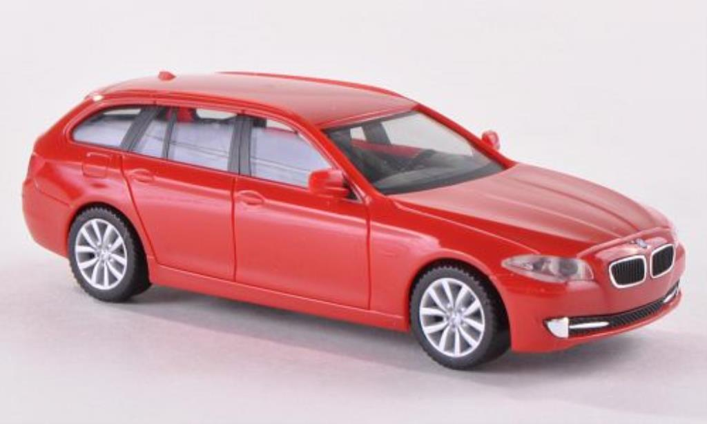 Bmw 530 F11 1/87 Herpa i Touring rouge miniature
