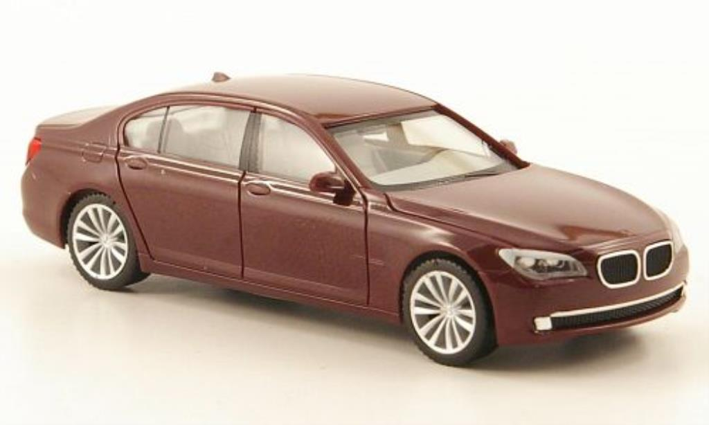 Bmw 740 F02 1/87 Herpa i version longue rouge 2008 miniature