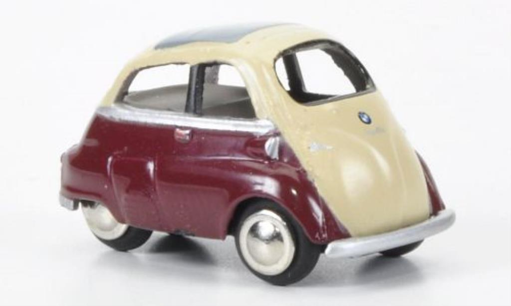 Bmw Isetta 1/87 Bub Export red/beige diecast