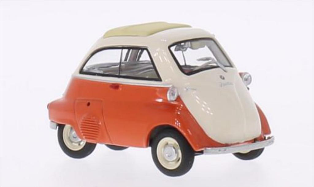 Bmw Isetta 1/43 Schuco orange/beige modellino in miniatura